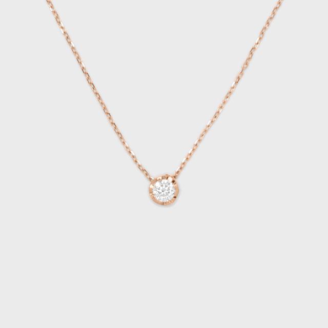 ENUOVE NOTTE Diamond Necklace K18PG (イノーヴェ ノッテ 0.25ct ダイヤモンドネックレス K18ピンクゴールド スライドアジャスターチェーン)