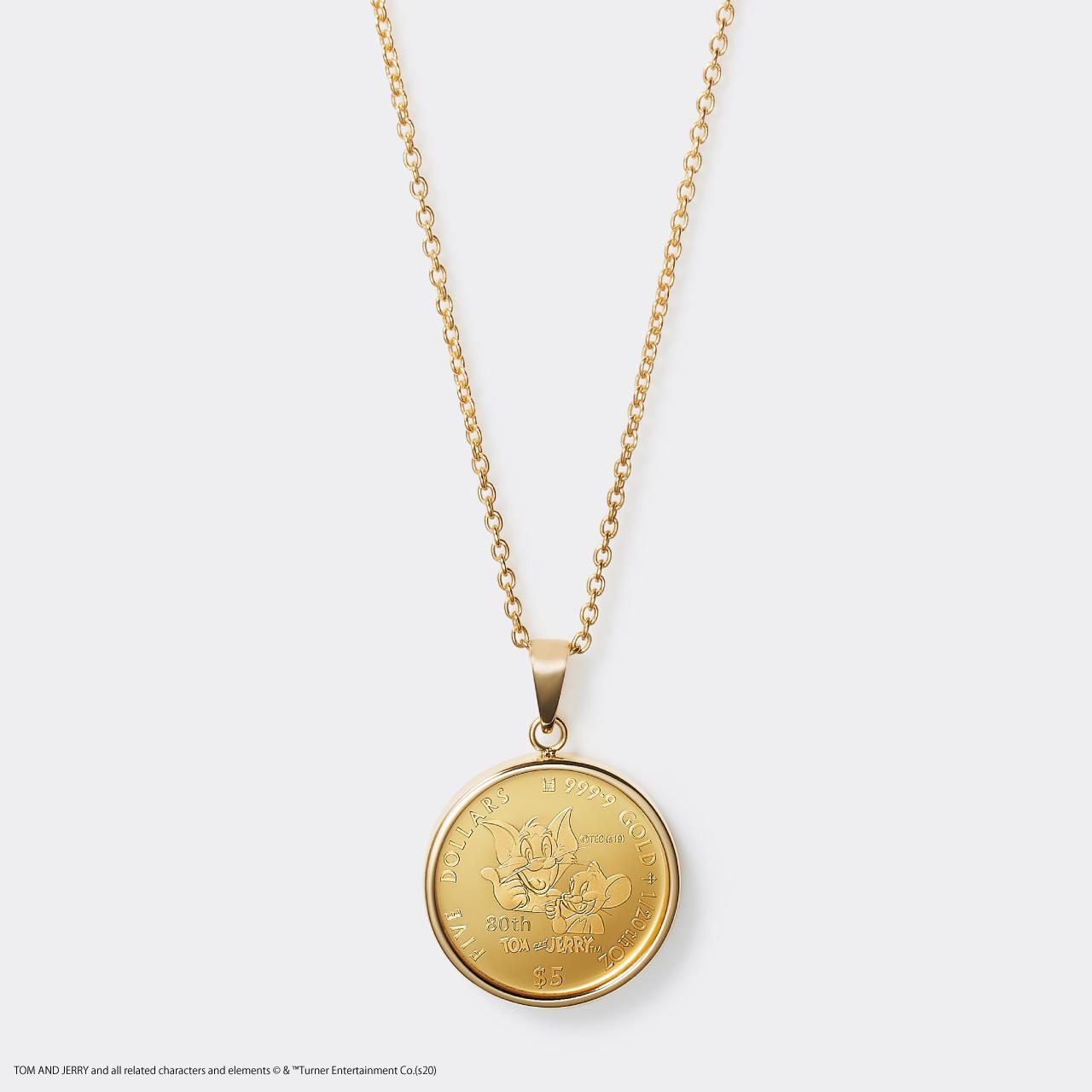 2020 TOM&JERRY 1/20 GOLD PROOF COIN NECKLACE(トムとジェリー 80周年記念硬貨ネックレス 1/20オンス)