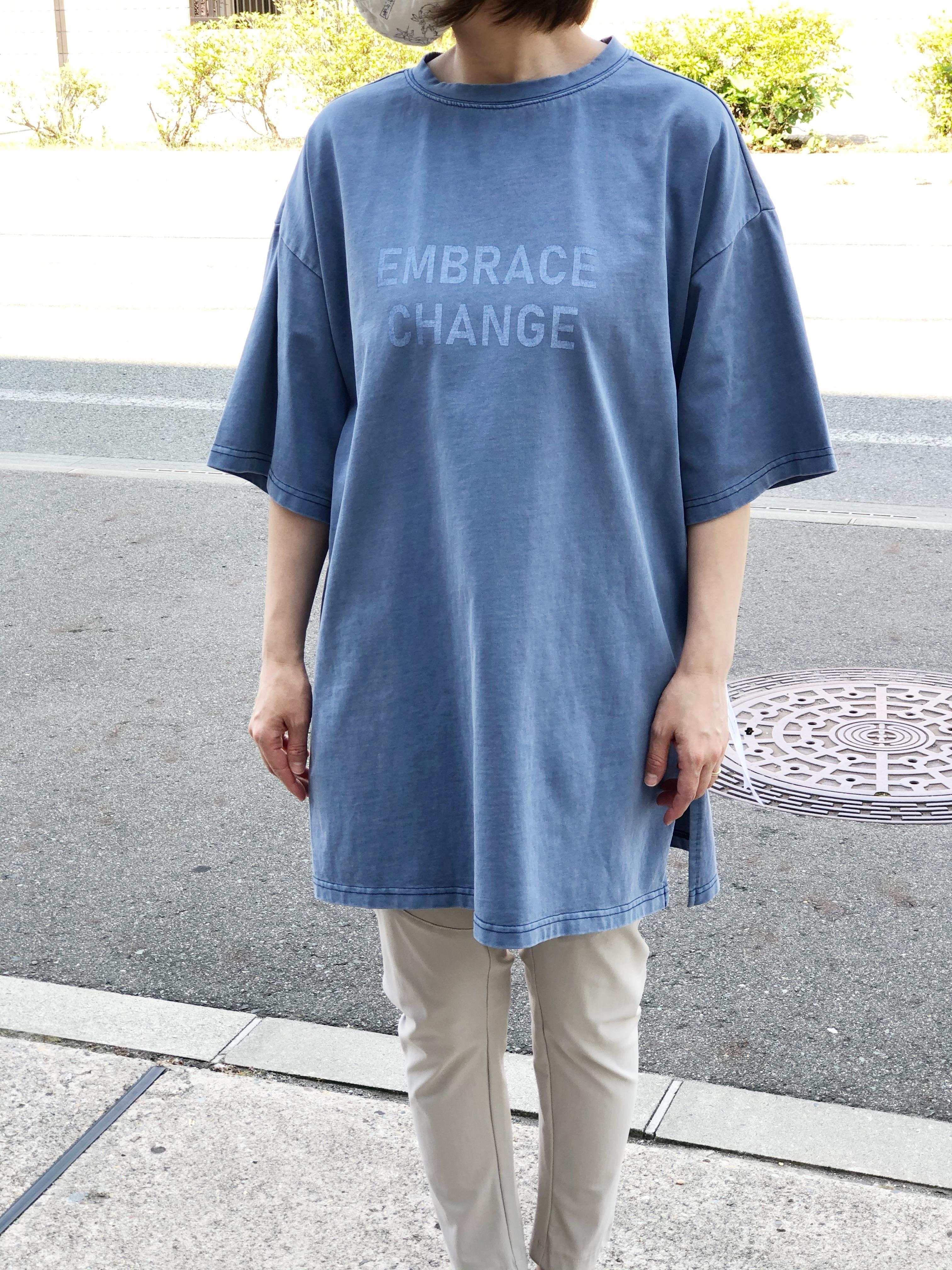 Dignite Collier/802313/後染めTシャツ(ブルー)