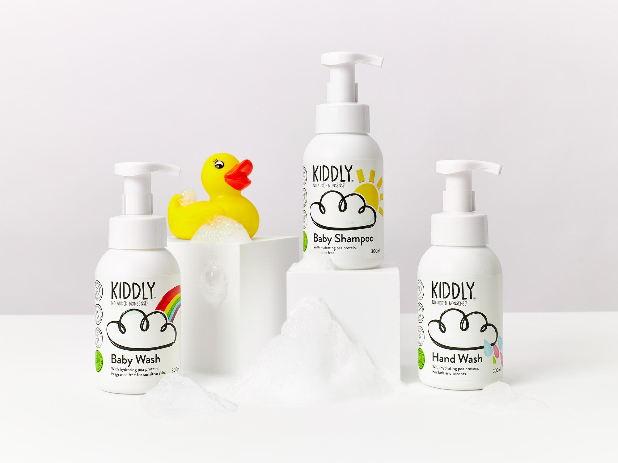 送料無料特典 お子様の『洗う』を全てカバー Shampoo & Baby Wash & Hand Soap 3本セット天然由来ピープロテイン配合