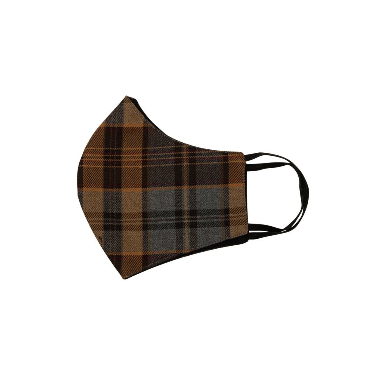 Relco London | Mask - Brown & Grey Tartan