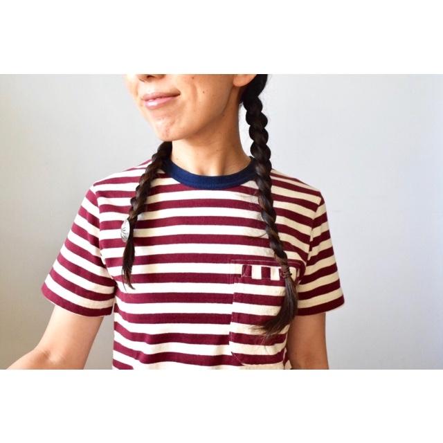 Simva104-0042B W-Pocket Border S/S Tシャツ