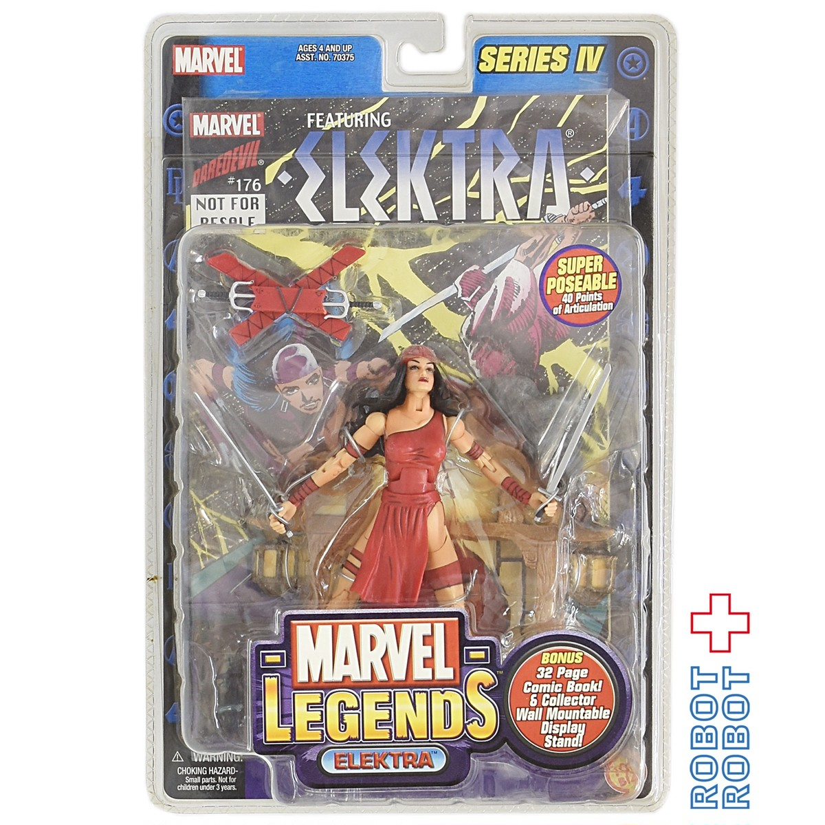 2002 ToyBiz Marvel Legends Series IV 4 ELEKTRA Figure MOC w// Comic