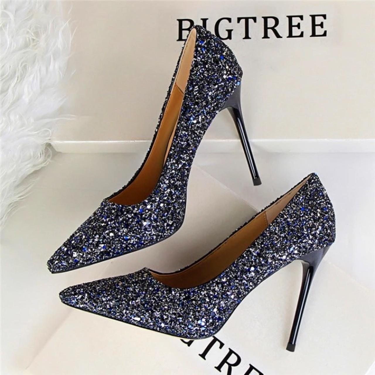 【即納】glitter pumps 9cm heels