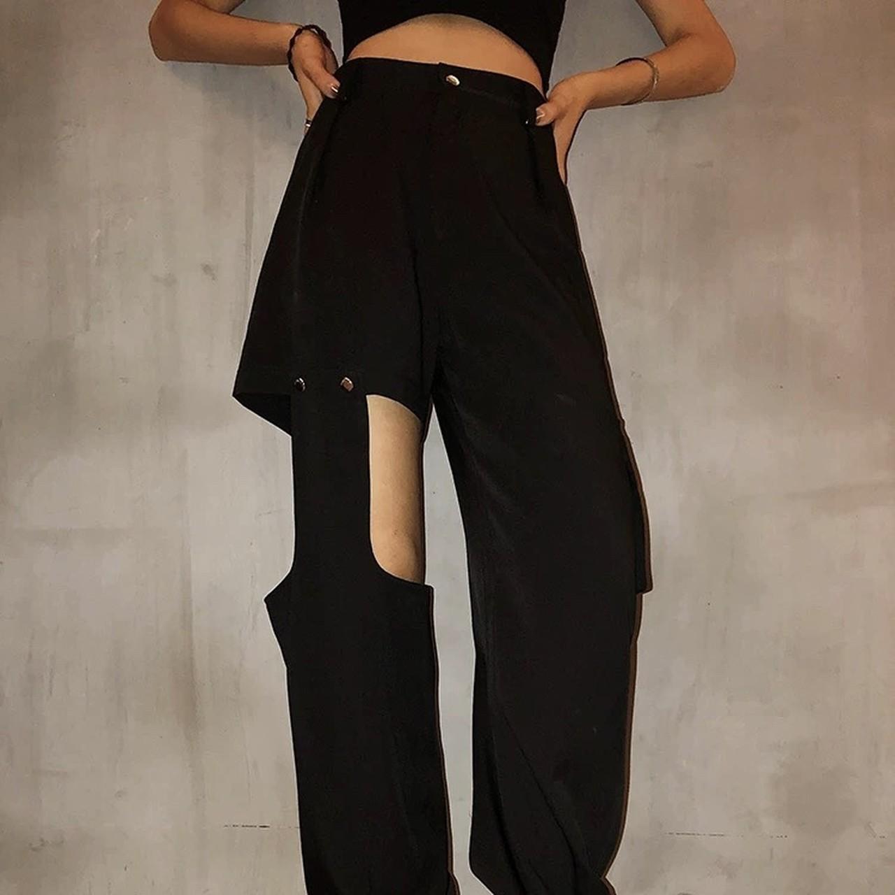 【即納】side unique design pants