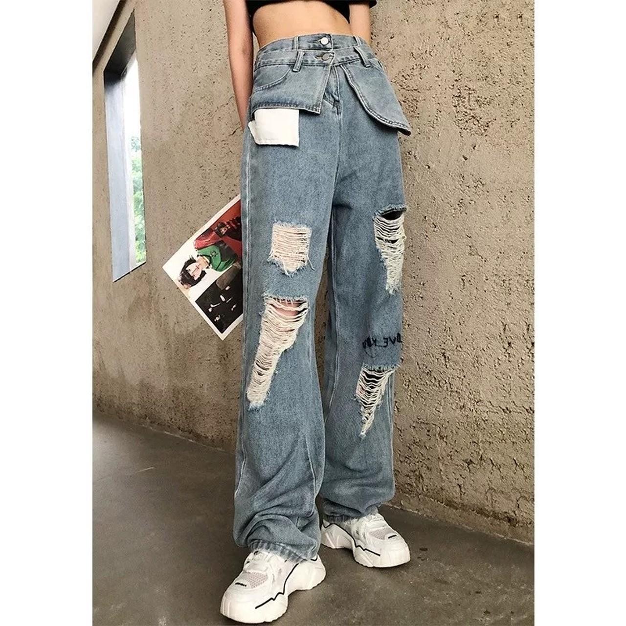 lining design damage pants