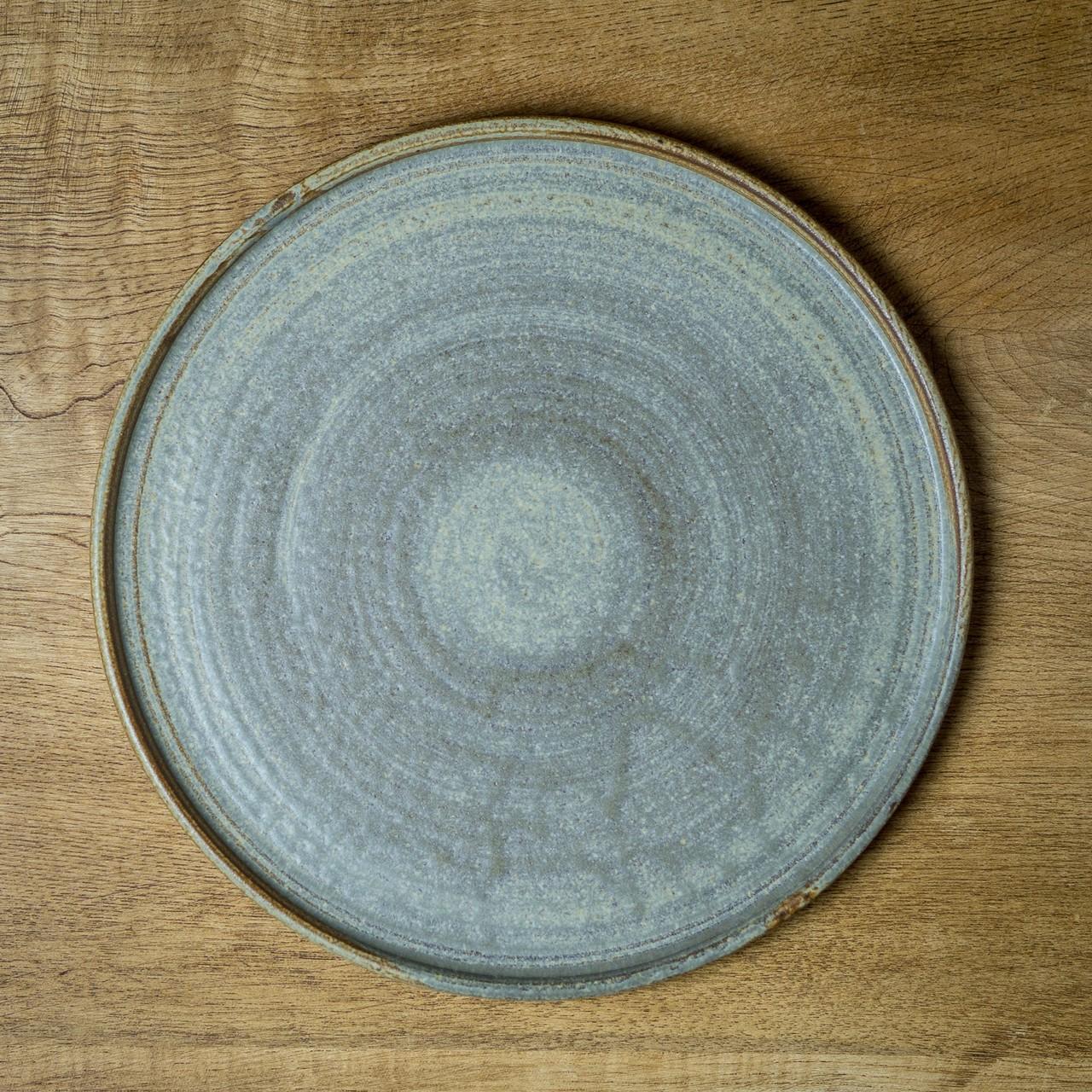 錆浅葱 8寸丸皿(フラットプレート・大皿・平皿)/吉永哲子