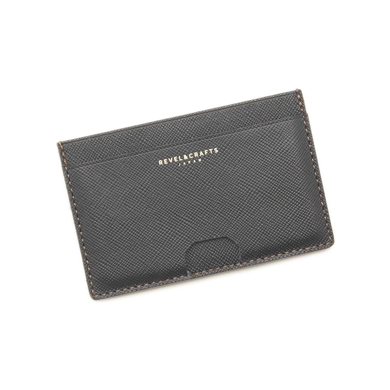 マネークリップ薄型カードウォレット-FLAT CARD WALLET ブラック
