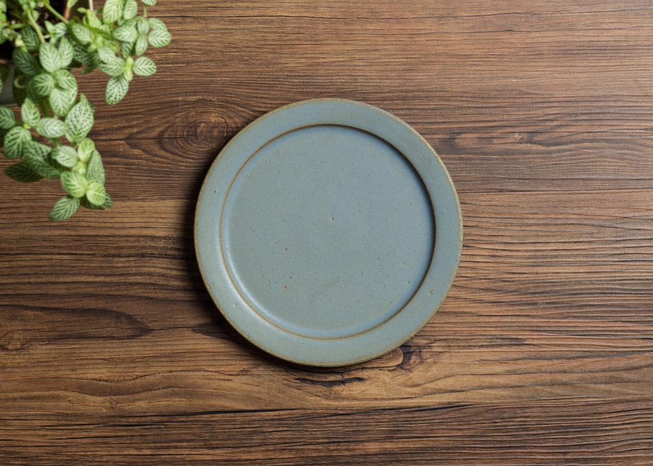 SHIROUMA 洋皿 18cm 灰色(中皿・パン皿・メインディッシュ)/長谷川 哲也