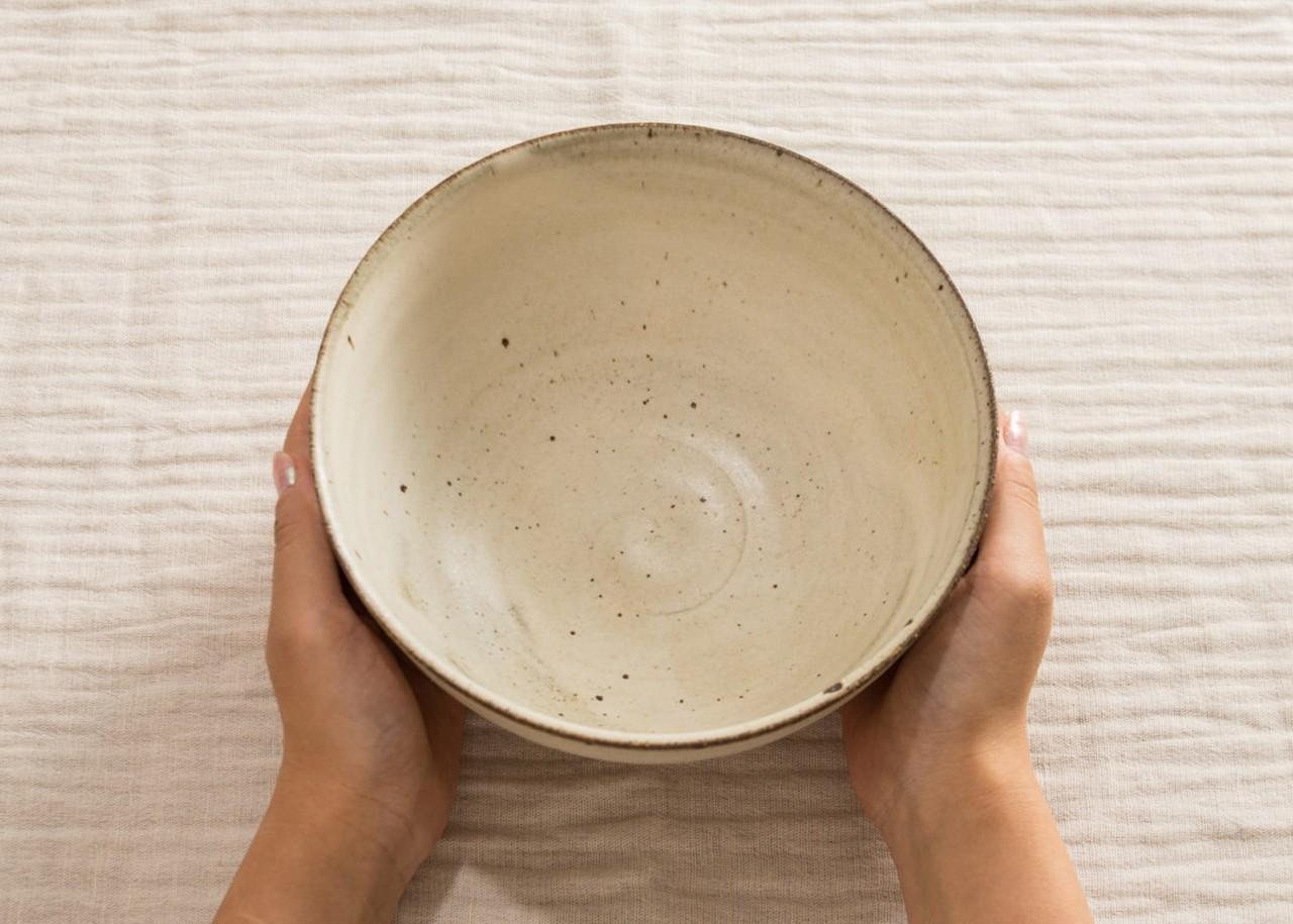 白マット釉 深鉢 /くるり窯