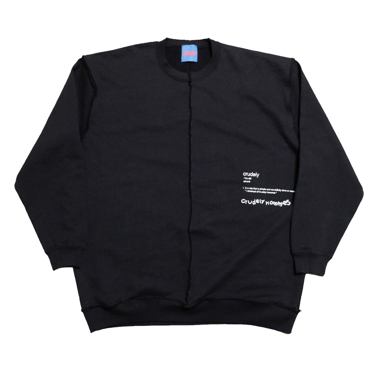 【Crudely Hommes】''Crudely'' Dictionary Docking Sweat