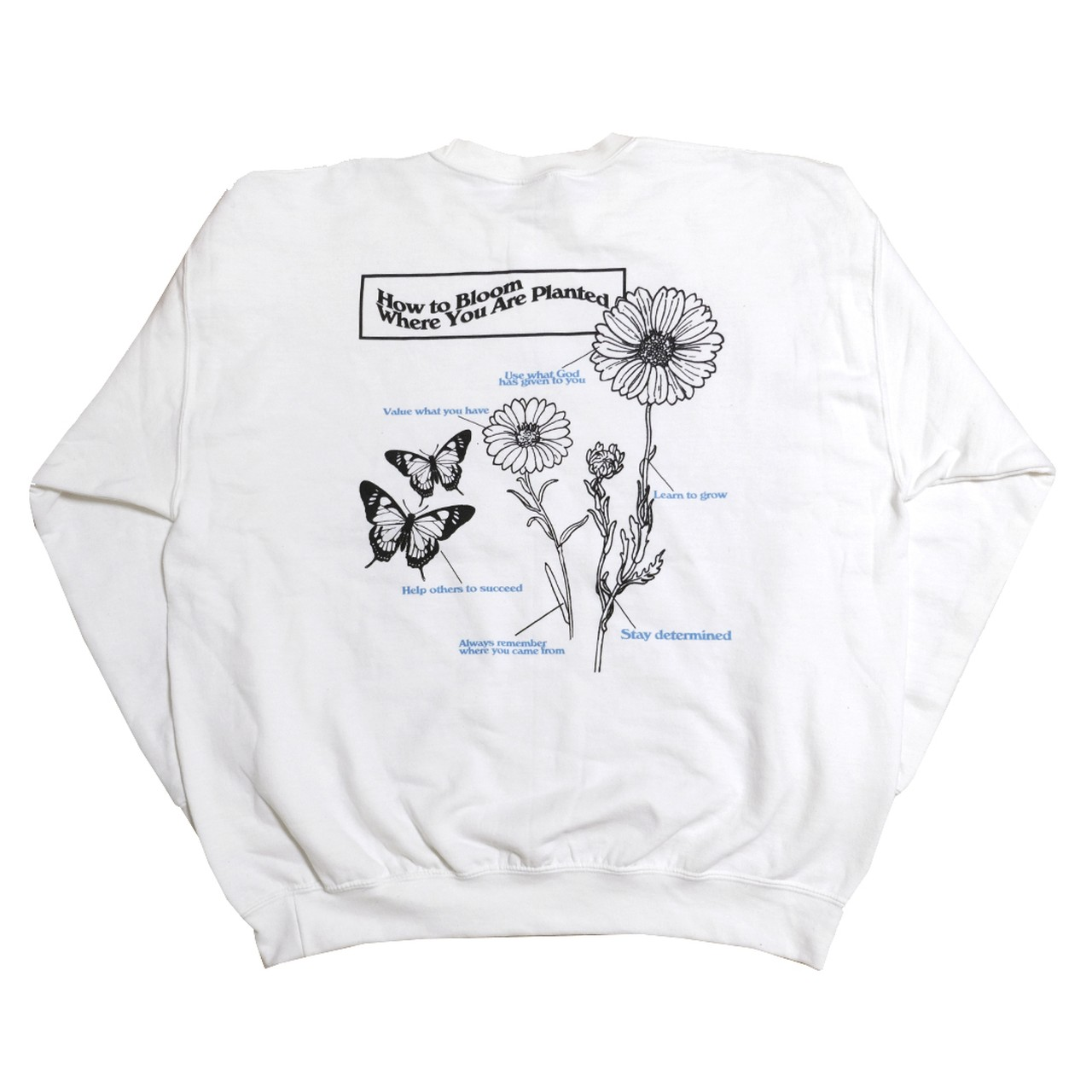 【Cat & Parfum】How to Bloom Where You Are Planted Crew-Neck Sweat