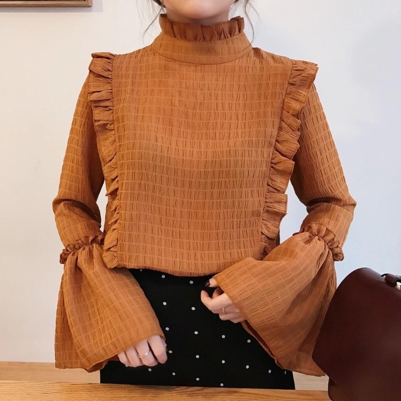 【即納】flare sleeve blouse