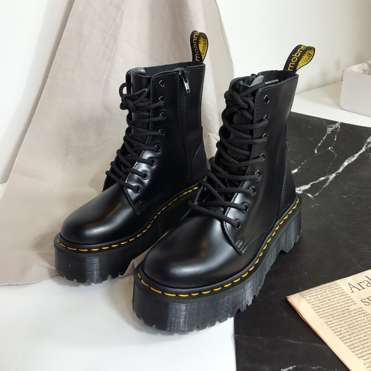 yellow line boots