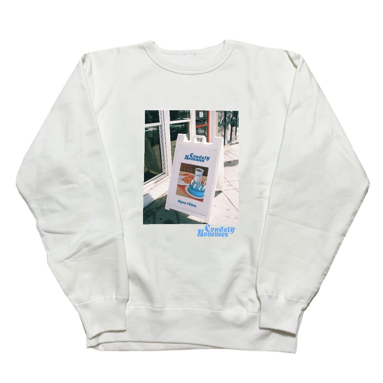 【Crudely Hommes】Cafe Front Graphic Heavy Weight Sweat Tops