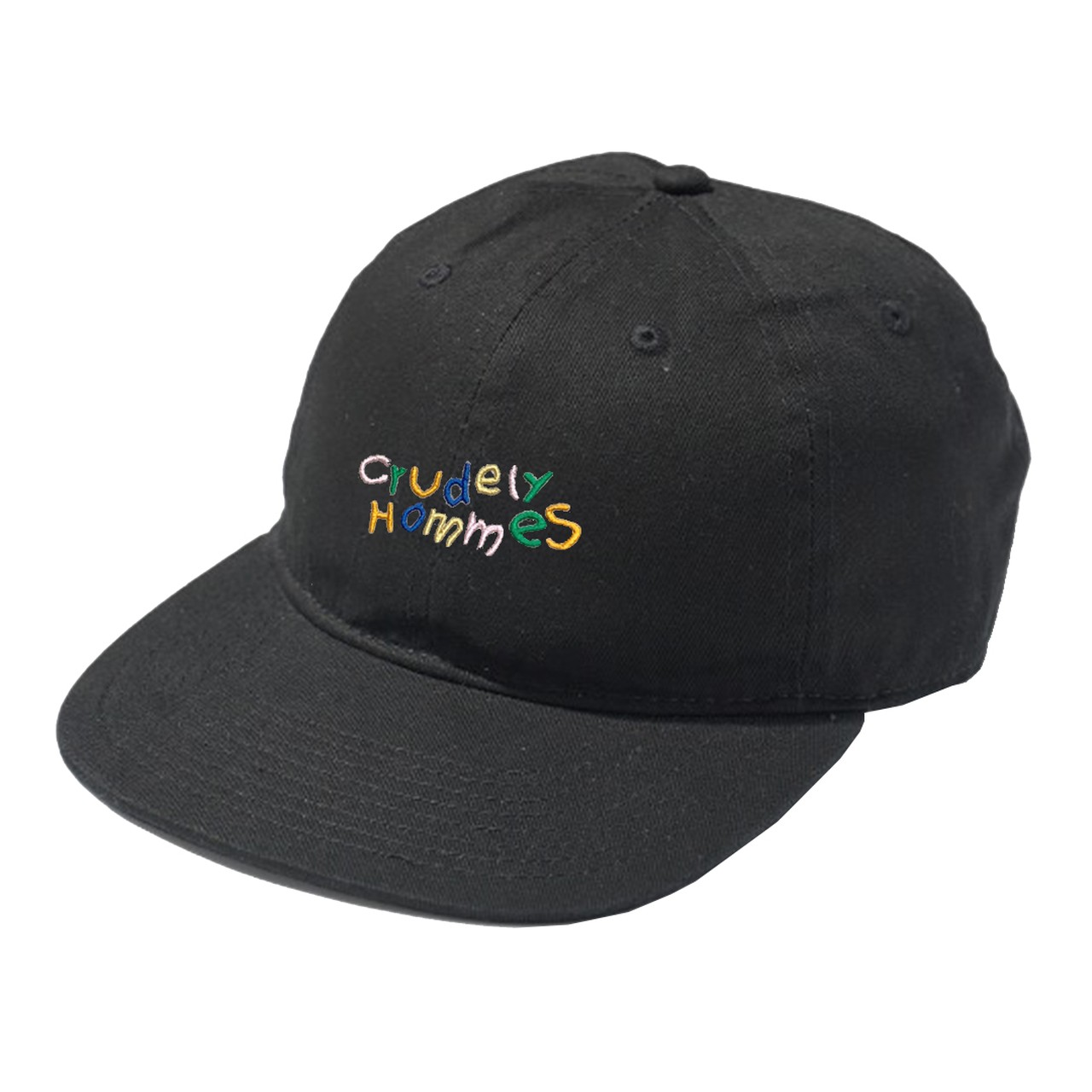 【Crudely Hommes】Rainbow Logo Embroidery Flat Hat