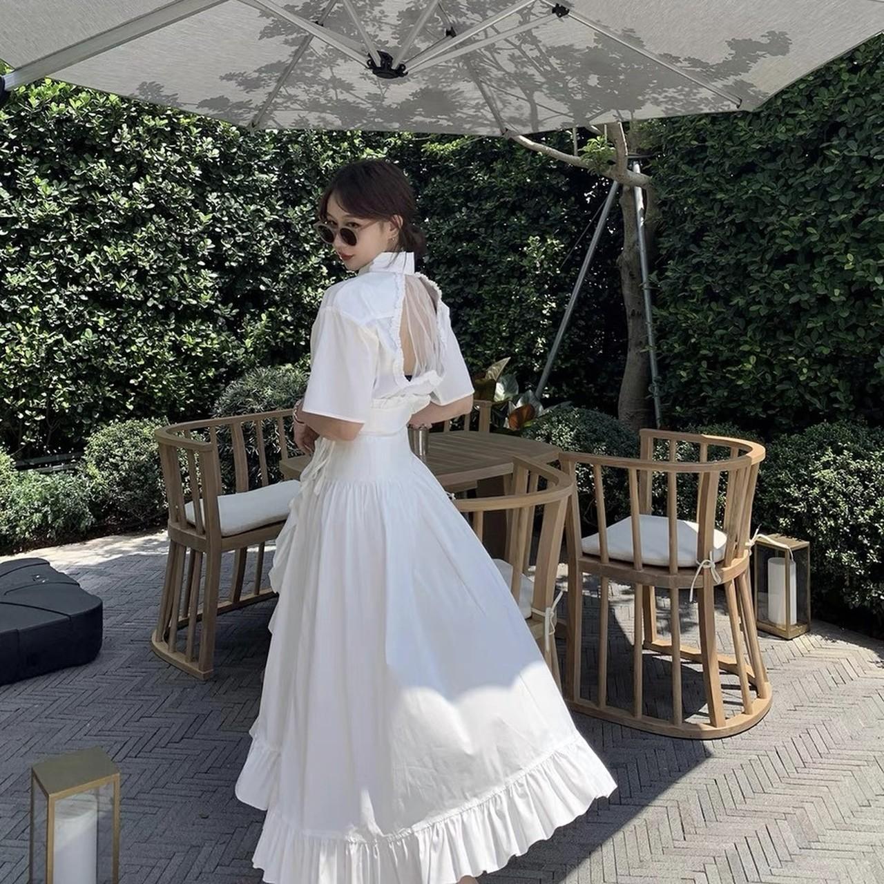 white dress set up