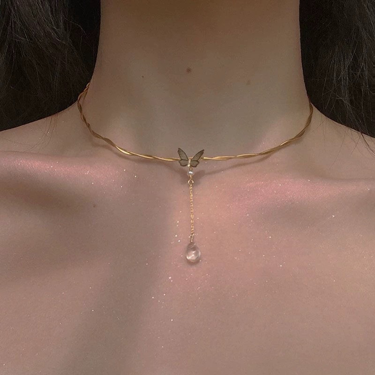butterfly chorker necklace