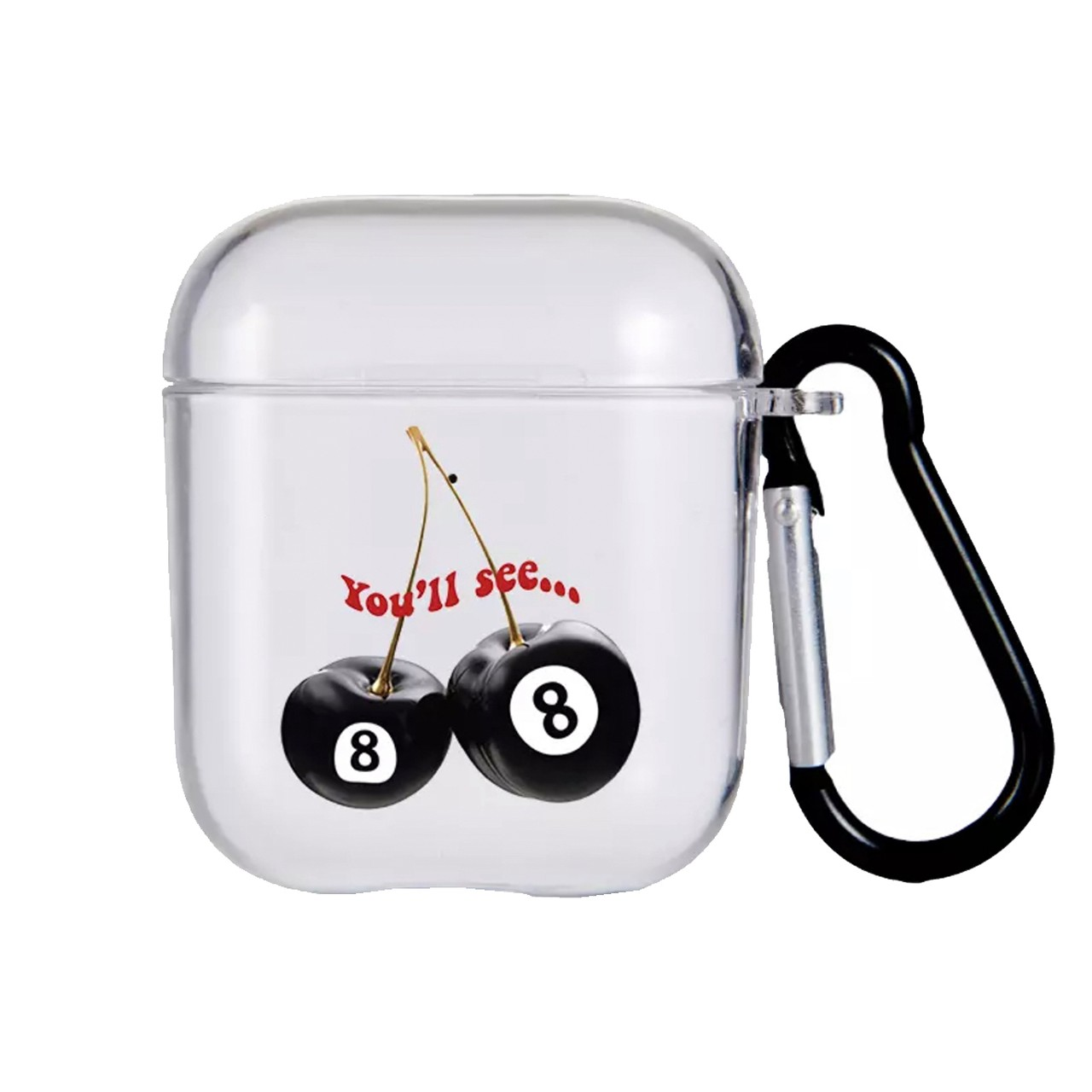 【Cat & Parfum】Cherry Eight Ball Clear AirPods Case