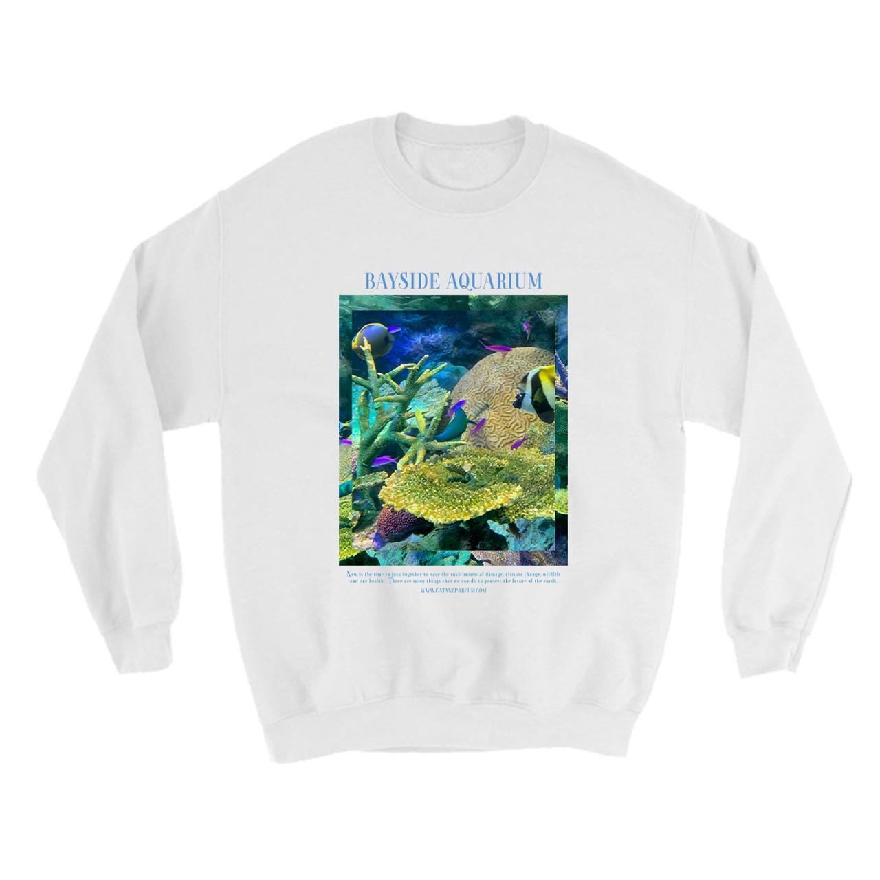 【Cat & Parfum】Bayside Aquarium Souvenir Crew-Neck Sweat Tops