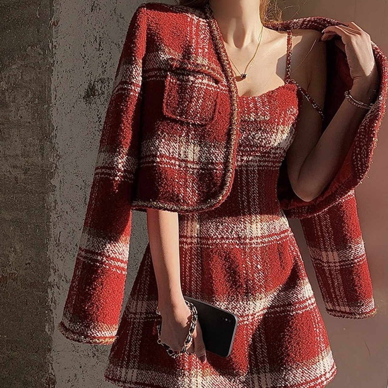 red check dress 2peace
