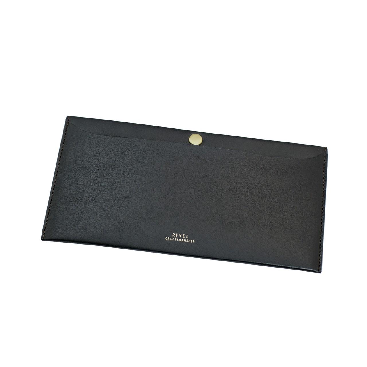 極薄長財布 - L.WALLETブラック