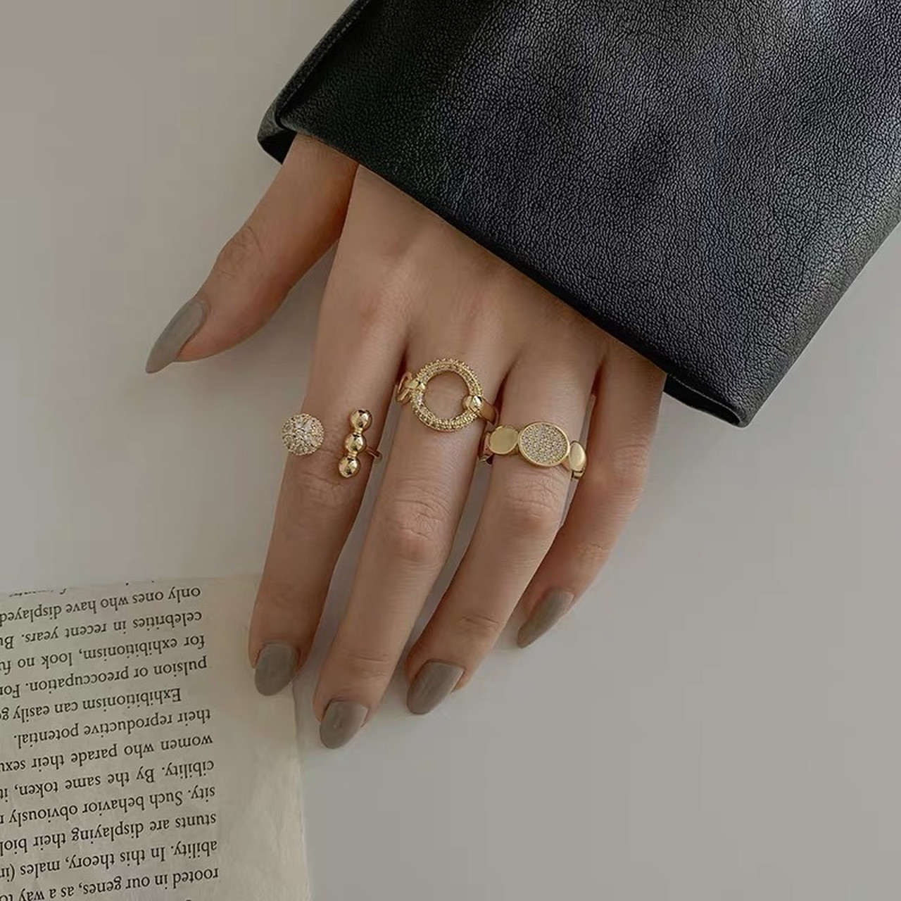 gold ring 3peace