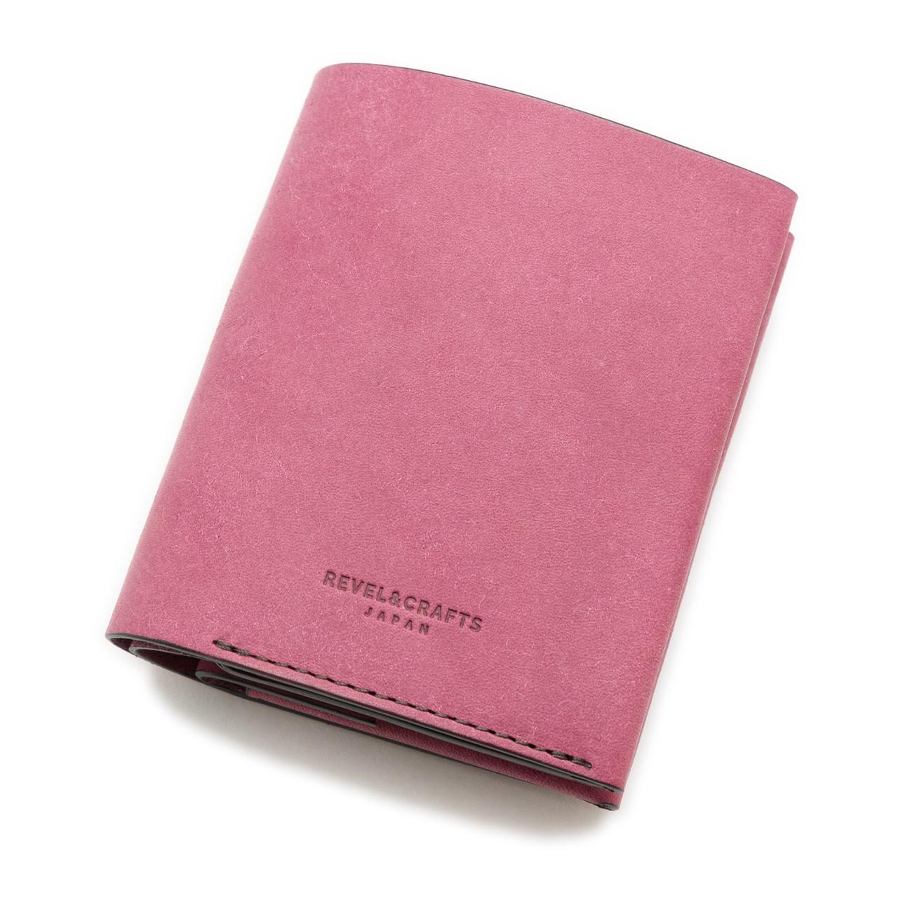 [限定]2折コンパクト財布 - ENOUGH イタリアンスクラッチ 紫陽花