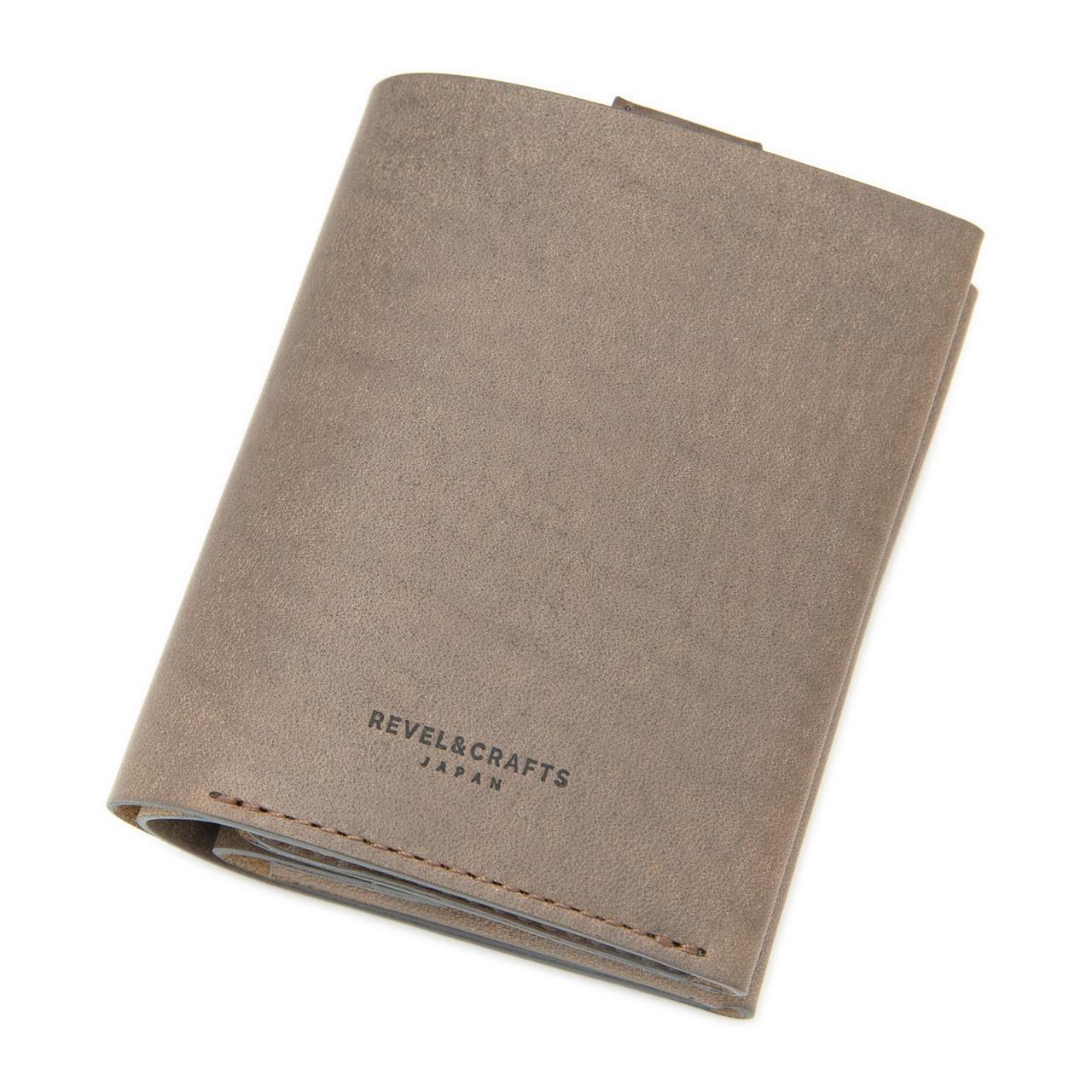 [限定商品]二ツ折コンパクト財布 - ENOUGH イタリアンアッシュグレー
