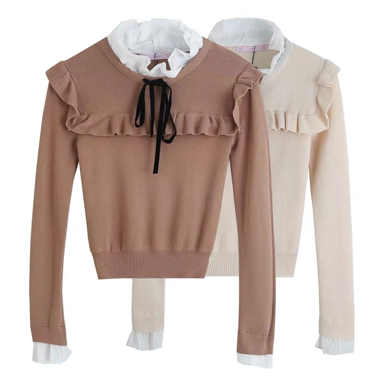 square collar knit