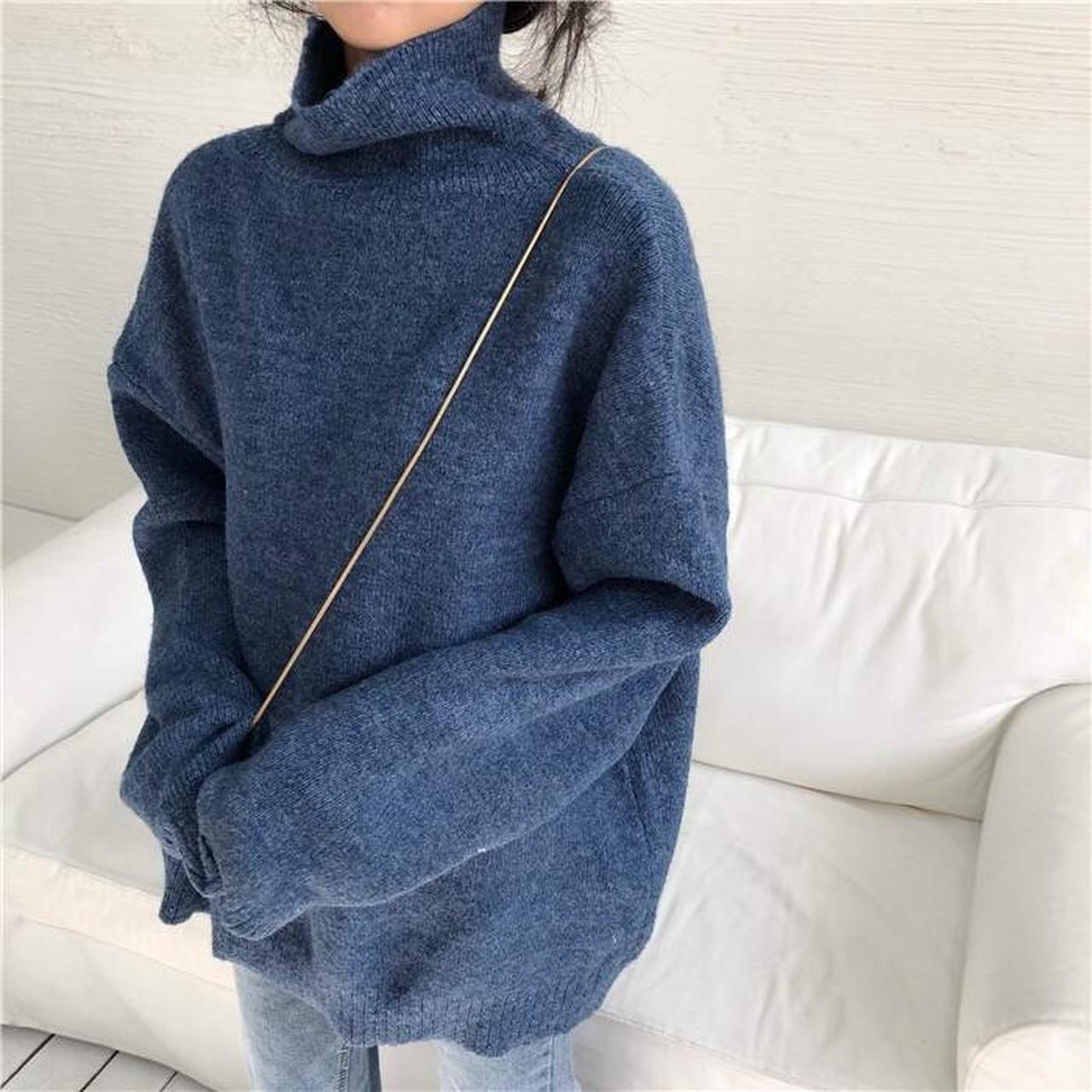 【即納】simple long knit