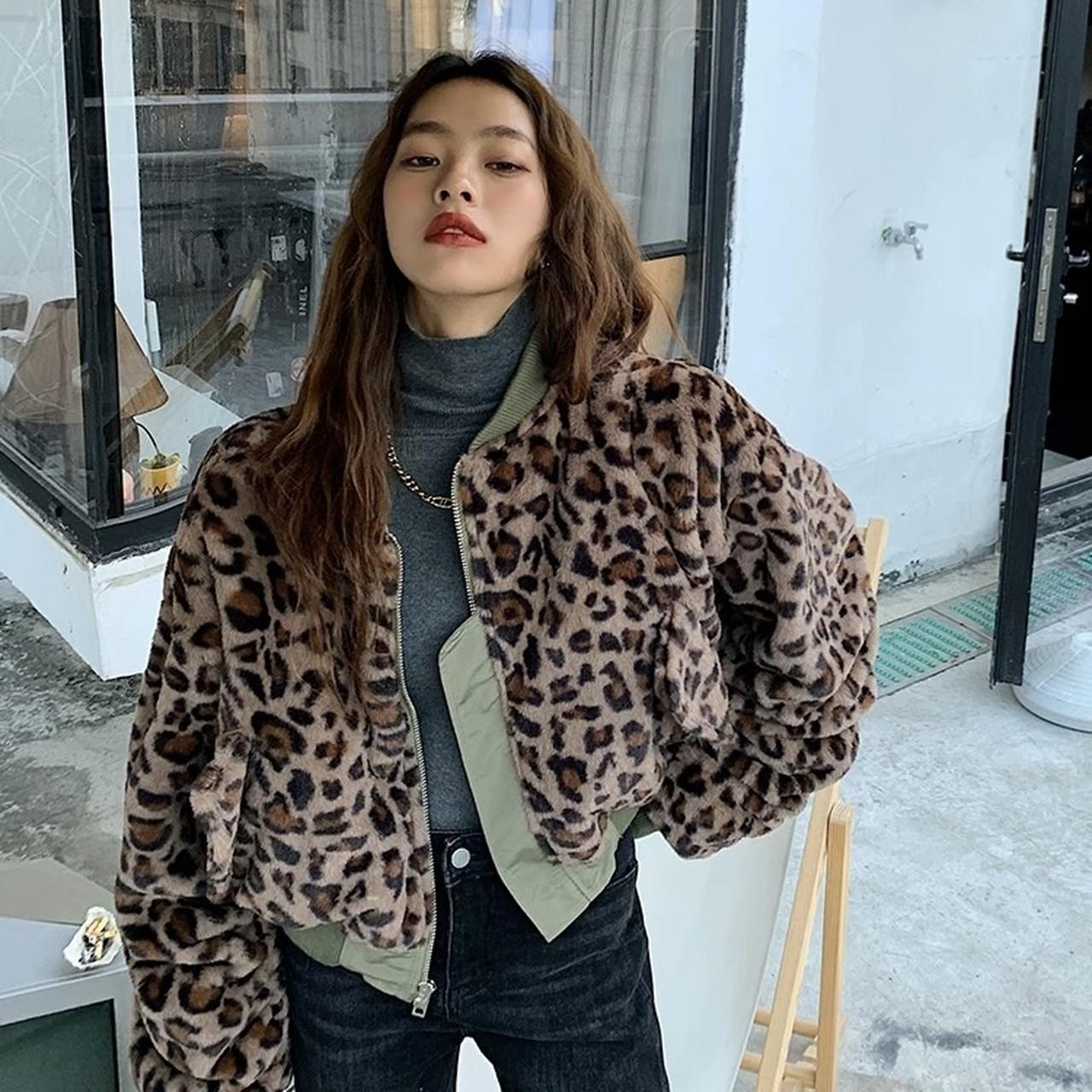 leopard reversible over jacket