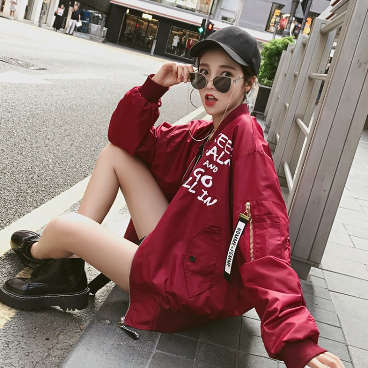【即納】chic jacket