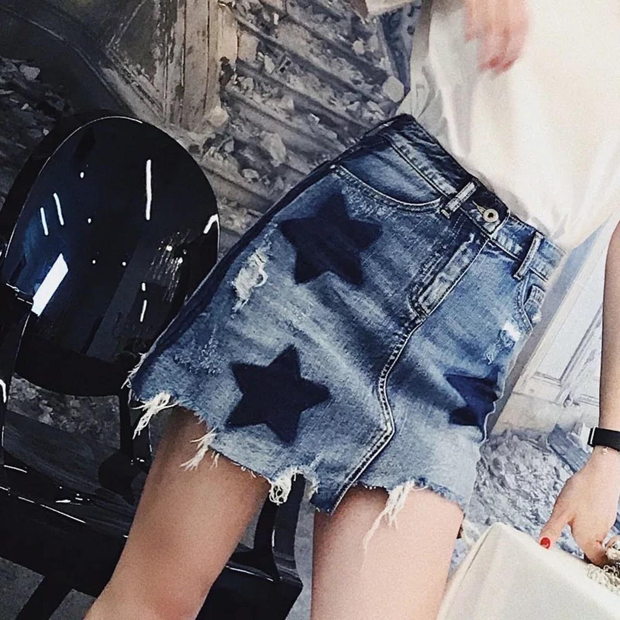 【即納】star asymmetrical skirt.