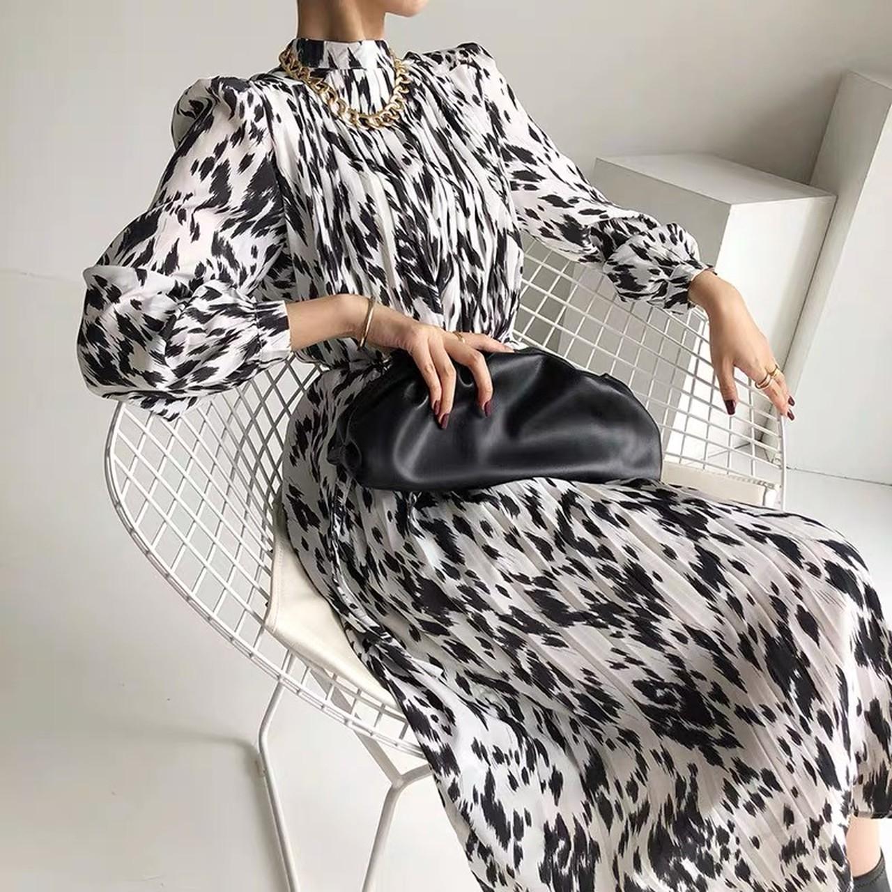 cow pattern dress
