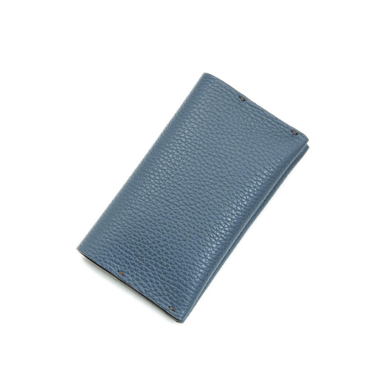 薄型二つ折りカードケース-WRAP CARD CASE BLUE