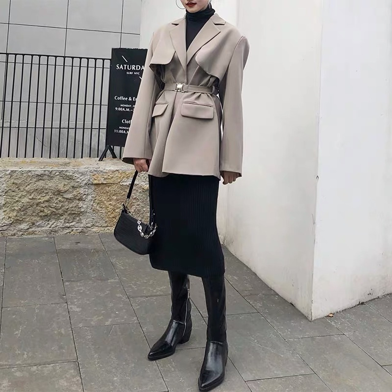 cape collar jacket