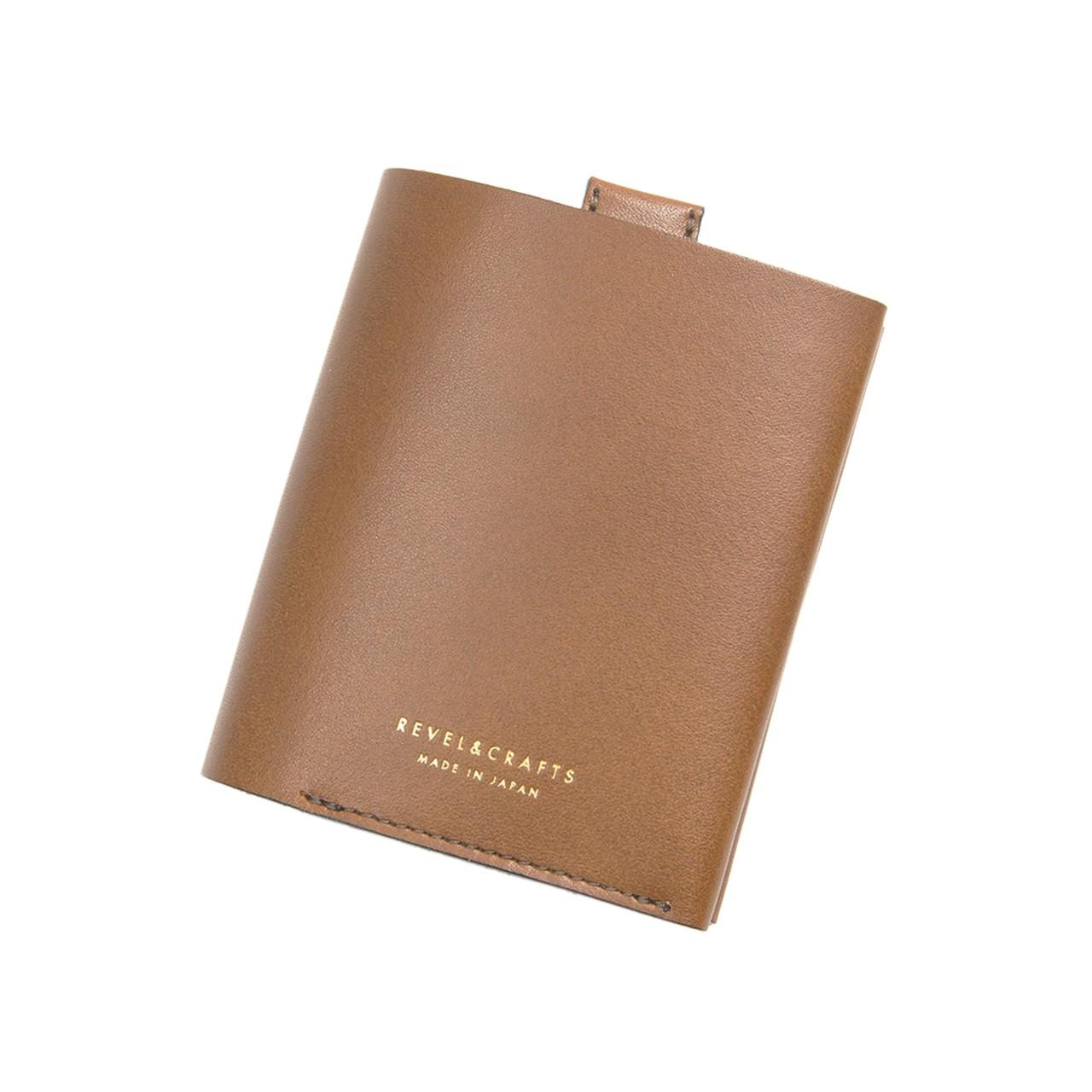 二ツ折コンパクト財布 - ENOUGH キャメル