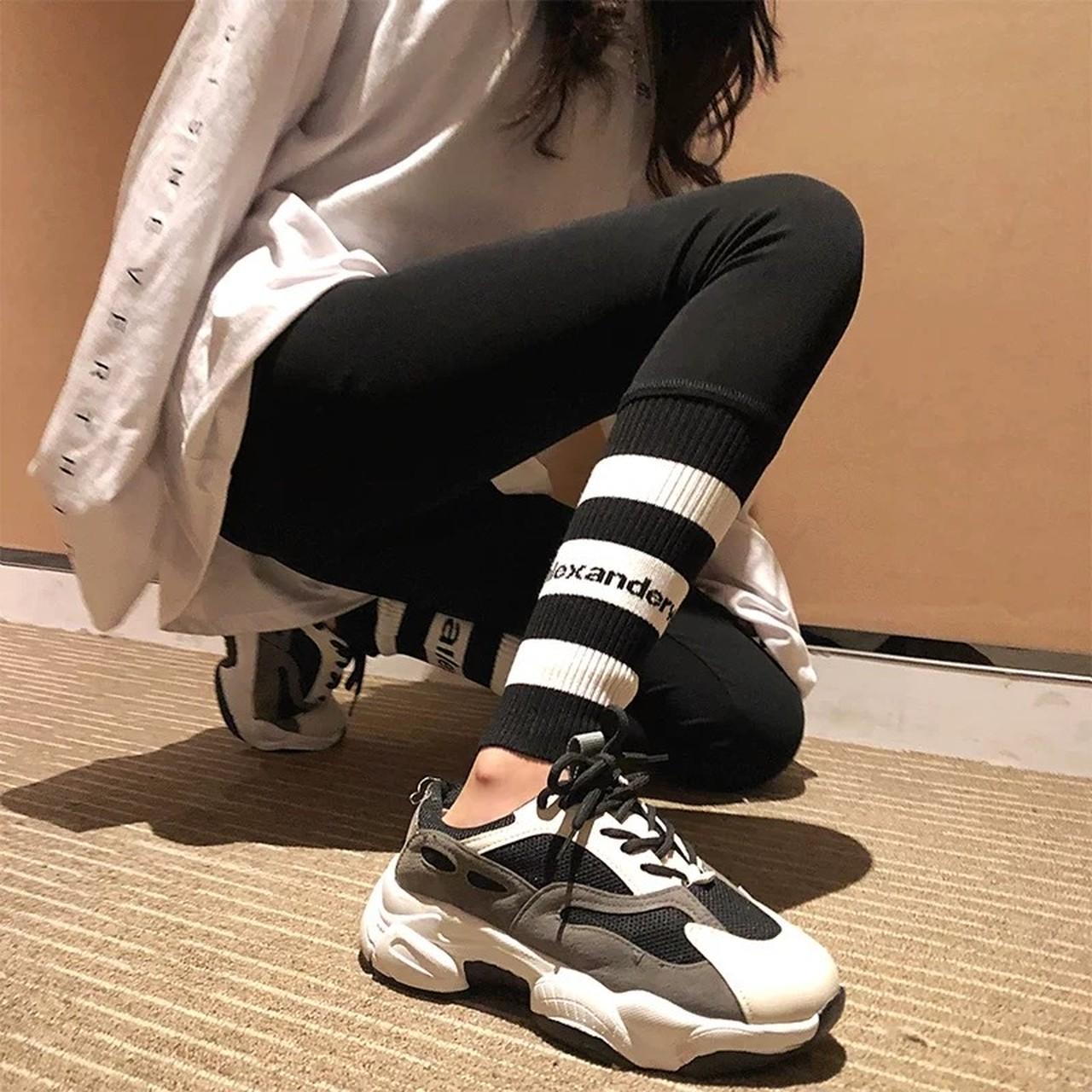 ankle border leggins pants