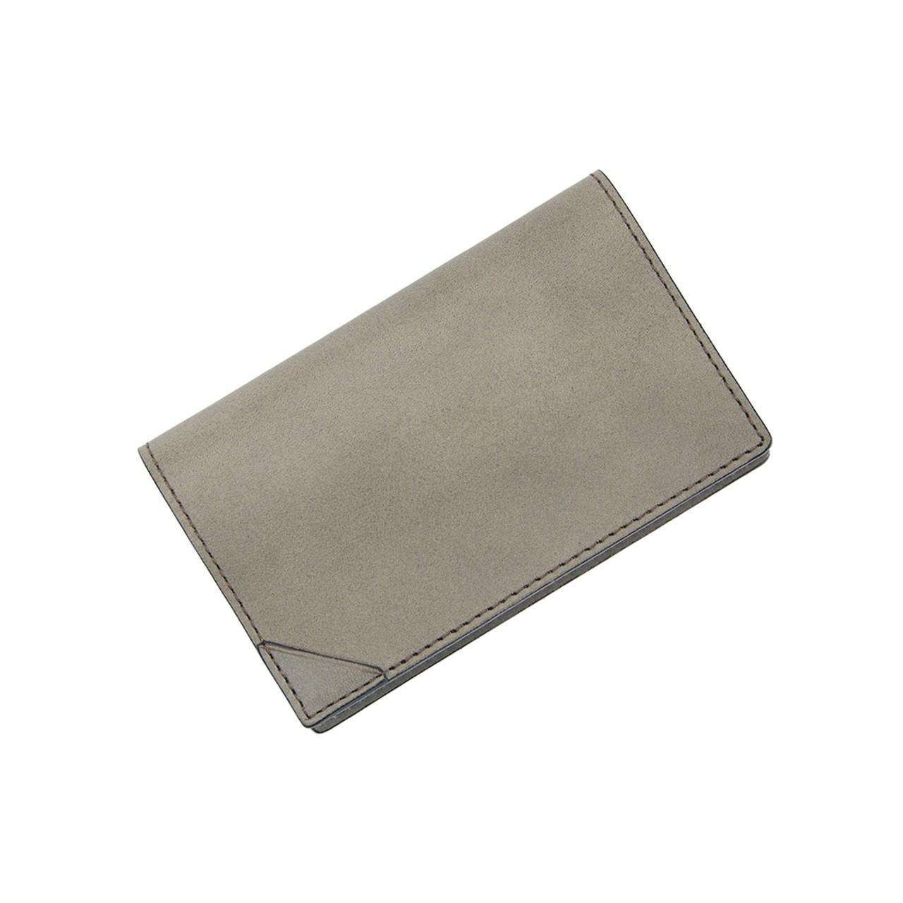 FLAT CARD CASE GRAY