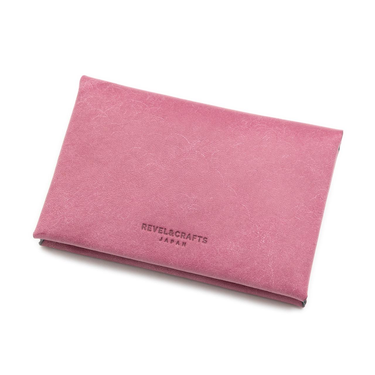 [限定]折革薄型名刺入れカードケース-イタリアンスクラッチ 紫陽花