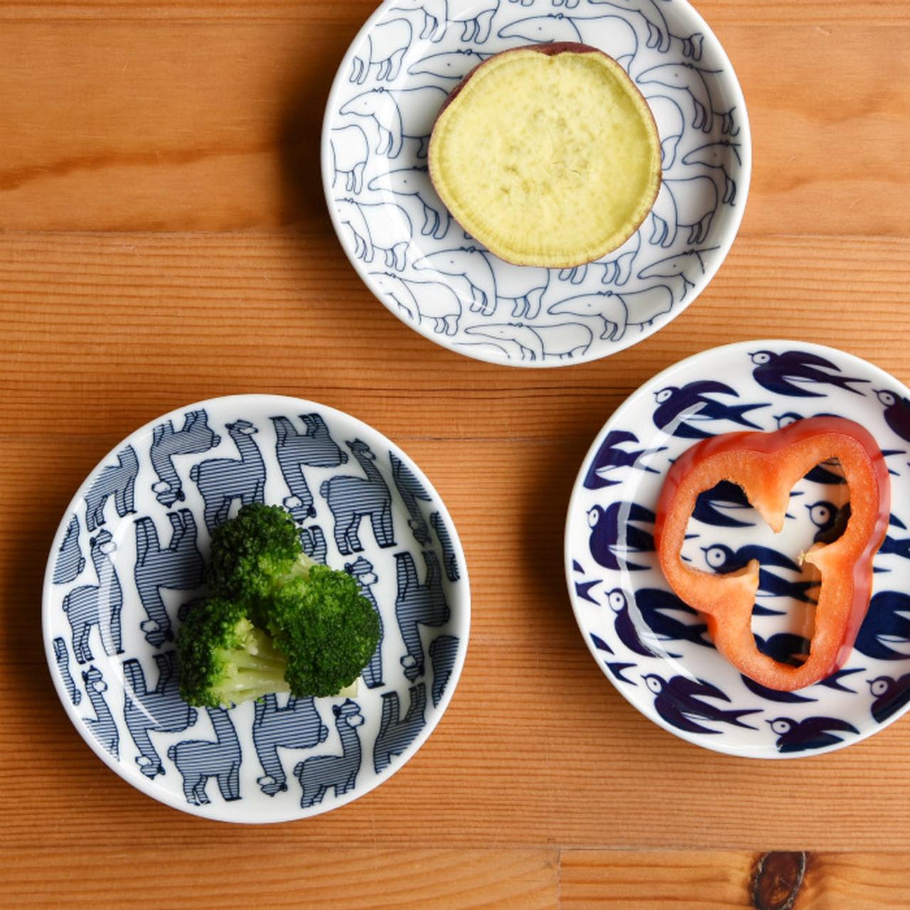 【波佐見焼】【natural69】【Janke】【豆皿】 動物柄 パターン柄 食器 北欧風 小皿 おしょうゆ皿 お手塩皿