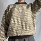Vintage Nordic Sweater _04(ノルディック総柄ニット)