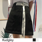【ホワイトS のみ即納☆数量限定☆】レディース 巻きスカート風 ミニスカート