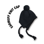 Earmuff knit cap [Black]