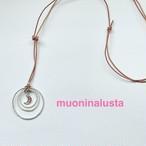 月のムオニナルスタ隕石×テンソルリングのネックレス ピンク