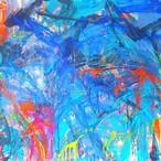 絵画 絵 ピクチャー 縁起画 モダン シェアハウス アートパネル アート art 14cm×14cm 一人暮らし 送料無料 インテリア 雑貨 壁掛け 置物 おしゃれ ロココロ 現代アート 抽象画 画家 : tamajapan 作品 : t-13