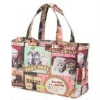 【猫と肉球】BOX型保冷保温バッグ(ピンク)