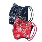 【COTEMER 夏用マスクセット 日本製】RED & BLACK MASK SET msck04