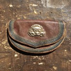 チベット ジッパ型コンチョ 型押し革財布